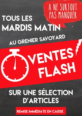 Les ventes flash continuent en magasin